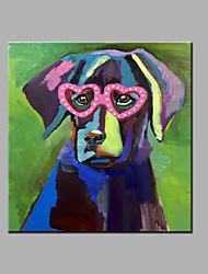 Pintados à mão Arte Pop Quadrada, Modern Tela de pintura Pintura a Óleo Decoração para casa 1 Painel