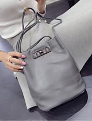 cheap -Women Bags PU leatherette Shoulder Bag Zipper for Casual Spring Black Beige Gray