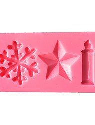 cheap -Christmas Candle  Silicone Cake Mold  SM-502