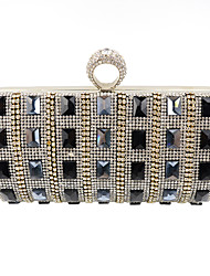 cheap -Women's Bags Velvet Evening Bag Crystal / Rhinestone Black / Silver / Golden