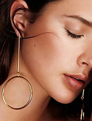 cheap -Men's Women's Drop Earrings Jewelry Fashion Alloy Circle Jewelry Wedding Party Daily Casual