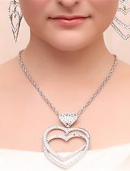 Braut-Schmuck-Sets Imitierte Perlen Imitation Diamant Geschenkboxen & Taschen Silber Halsketten Ohrringe Ringe Haarschmuck Für Hochzeit4