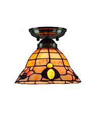 18cm Retro Tiffany Ceiling Lamp Glass Shade Flush Mount Living Room Bedroom Dining Room Kids Room light Fixture