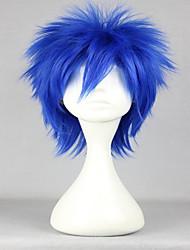 abordables -Pelucas sintéticas / Pelucas de Broma Recto Pelo sintético Azul Peluca Mujer Corta Sin Tapa
