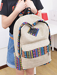 Women Bags All Seasons Canvas Backpack for Casual Outdoor Gray Blue Khaki