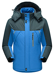 cheap -Men's Women's Hiking Jacket Outdoor Winter Keep Warm Wateproof Windproof Thick Jacket Top Waterproof Camping / Hiking Ski / Snowboard