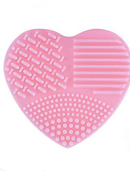 abordables -1 pcs brosse oeuf et nettoyants Silicone Heart Shape