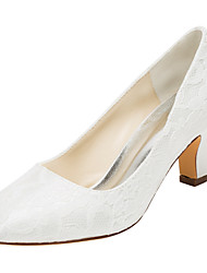 cheap -Women's Heels Spring / Fall  Stretch Satin Wedding / Party & Evening / Dress Chunky Heel  Ivory