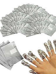 100Pcs  Nail Cotton Piece Of Methyl Tin Foil Convenient And Swift 1Set