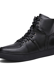 Muške Čizme Udobne cipele PU Proljeće Jesen Kauzalni Udobne cipele Vezanje Ravna potpetica Obala Crn Plava Ravne