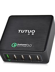 Charge rapide / Ports multi Chargeur de portable Prise US 5 ports USB avec câblePour iPad / pour téléphone portable / Pour Autres Pad /