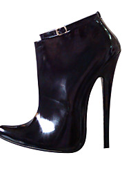 Women's Boots Winter  PU Party & Evening Stiletto Heel Buckle Black