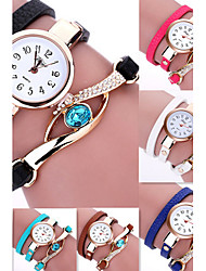 cheap -Women's Bracelet Watch / Wrist Watch Hot Sale / / Leather Band Flower / Bohemian / Fashion Black / White / Blue