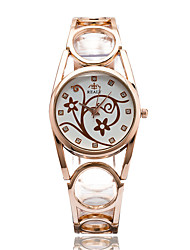Women's Fashion Watch Wrist watch Casual Watch / Quartz Alloy Band Cool Casual Elegant Silver Gold Rose Gold