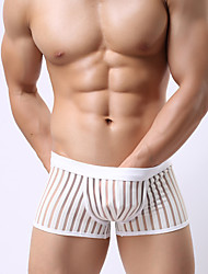 cheap -Men's Sexy Boxers Underwear Shaping Panties Ultra Sexy Panties Solid Colored Striped Low Rise