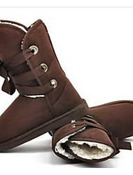 Women's Boots Winter Other Animal Skin Casual Chocolate Black Beige Light Brown Flat