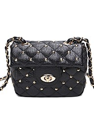 cheap -Women Bags PU Crossbody Bag Rivet for Wedding Event/Party Casual Sports Formal Outdoor Office & Career All Seasons Black