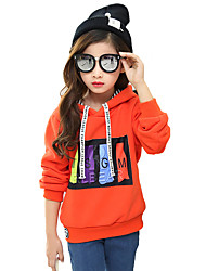 Girl Cotton Fashion Spring/Fall/Winter Going out/Casual/Daily Cartoon Print Long Sleeve Hoodie Sweatshirt