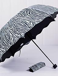 economico -Nero / Bianco Ombrello pieghevole Ombrellino parasole Plastic Passeggino