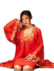 Women Red Dress Sexy Lingerie Gown Sleepwear Pajamas