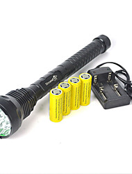 Camping 18000Lm 15X XM-L T6 LED 15T6 Flashlight Torch Lamp 4X26650 Charger
