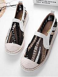 abordables -Femme Chaussures Tulle Confort Mocassins et Chaussons+D6148 pour Décontracté Blanc Noir
