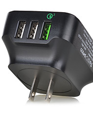 Недорогие -Быстрая зарядка / Мульти порты Портативное зарядное устройство Стандарт Австралии / Стандарт США 3 порта USB зарядное устройство только