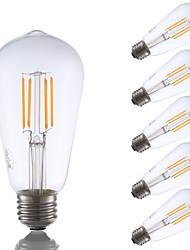 E26 LED Filament Bulbs ST19 4 COB 325 lm Warm White 2700 K Dimmable Decorative AC 110-130 V