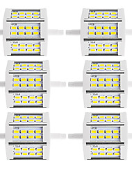 abordables -6pcs 250-300lm R7S Projecteurs LED Tube 24 Perles LED SMD 5730 Décorative Blanc Chaud Blanc Froid 85-265V 220-240V