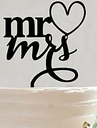 Недорогие -Украшения для торта Сад Азия Цветы Бабочки Классика Сказка Деревенская тема Акрил Свадьба Годовщина Девичник с 1 Подарочныйпакет