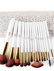 cheap -MSQ® 15pcs Makeup Brushes set Bristle Hair Hypoallergenic/Limits bacteria/Professional Fiber White Blush brush Shadow/Eyeliner/LipBrush With Bag