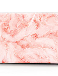 "Case for Macbook 13"" Macbook Air 11""/13"" Macbook Pro 13"" MacBook Pro 13"" with Retina display Solid Color Plastic Material Pink Feathers Pattern"