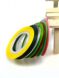 Mixed Fluorescent 7 Colors Nail Art Rolls Striping Tape Line DIY Beauty Sticker Sets Nail Decorations Adhesive Tips NC397