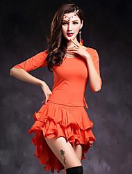 Belly Dance Dresses Performance Modal Ruffles 2 Pieces Half Sleeve Natural Dress  Top / Skirt