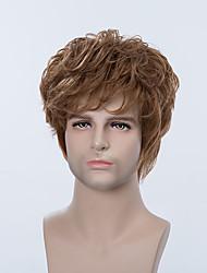 bello breve senza cappuccio parrucche naturale dei capelli umani ondulati per gli uomini