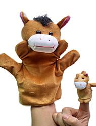 Marionnette de Doigt Jouets Cheval Animaux Nouveauté Garçon Fille Pièces
