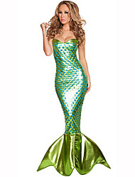 cheap -Mermaid Tail Female Christmas Halloween Carnival New Year Oktoberfest Children's Day Festival / Holiday Halloween Costumes Solid