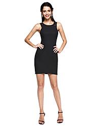 preiswerte -Eng anliegend Schmuck Kurz / Mini Spitze Stretch - Satin Cocktailparty / Abiball Kleid mit Spitze durch TS Couture®