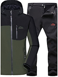 Men's Hiking Softshell Jacket Waterproof Thermal / Warm Windproof Insulated Comfortable Top Bottoms for Camping / Hiking Snowsports