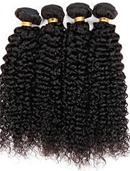 cheap -Brazilian Hair Kinky Curly Natural Color Hair Weaves 3 Bundles 8-30inch Human Hair Weaves Natural Black