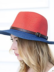 cheap -Women's Holiday Straw Hat - Striped