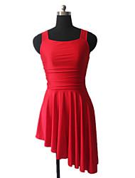 baratos -Balé Vestidos Mulheres Treino Fibra Sintética / Lycra Cruzado Sem Manga Vestido