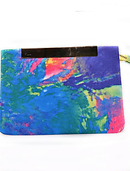 cheap -Women's Bags Polyester Clutch Artwork Light Blue And Yellow