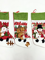 High Quality L Size Textile Christmas Stocking / Christmas Storage / Ornaments