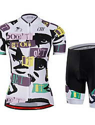 cheap -Cycling Jersey with Shorts Women's Short Sleeves Bike Jersey Shorts Quick Dry Anatomic Design Breathable Soft Back Pocket