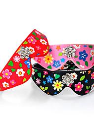 cheap -Dog Collar Adjustable / Retractable Mosaic Rhinestone PU Leather Black Red Pink