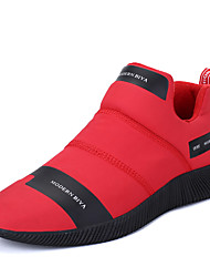 Masculino-Tênis-ConfortoPreto Vermelho Azul Marinho-Microfibra Couro Ecológico-Ar-Livre Escritório & Trabalho Casual Para Esporte Festas