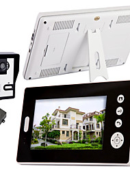 7 pollici Wireless Video telefono del portello con visione notturna (1camera 2 monitor)