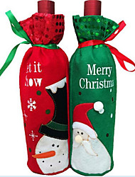 Недорогие -1шт рождества мешок вина бутылка бутылка вина