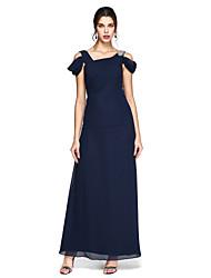Funda / Columna Hasta el Suelo Raso Baile de Promoción Evento Formal Vestido con Cuentas Recogido Lateral Plisado por TS Couture®